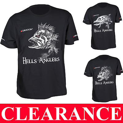 Fishing T-SHIRT PIKE PERCH ZANDER HELLS ANGLERS 100% Cotton BEST QUALITY TACKLE