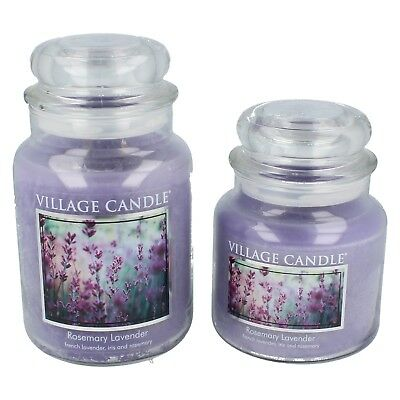 Premium candles in a jar by VILLAGE CANDLE Retail £9.99/£12.99/£14.99