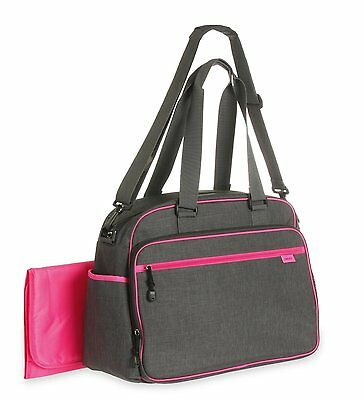 Carter's Sport Duffel Diaper Bag, Grey/Pink