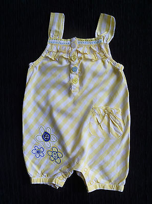 Baby clothes GIRL 3-6m yellow/white flower embroidery cotton romper SEE SHOP!