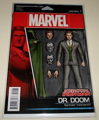 INTERNATIONAL IRON MAN # 1 Marvel Comic  May 2016 NM ACTION FIGURE VARIANT COVER