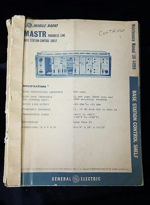 General Electric Mastr Progress Line Base Station Control Shelf Manual LBI-4490B