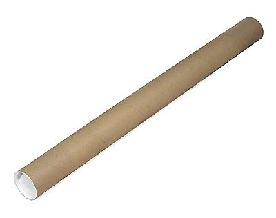 "EcoBox 2"" x 24"" Kraft Cardboard Poster Mailing Tube with End Caps"