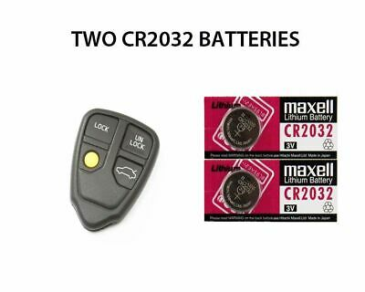 CR2032 2 X BATTERIES FOR VOLVO S80 KEY REMOTE FOB