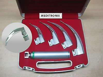 ENT MAC FO ACRYLIC LED Laryngoscope SET- BLADE # 1,2,3,4, MEDIUM HANDLE