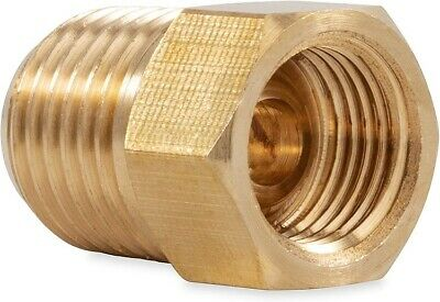 "3/8"" Inverted Flare Tube Female x 3/8"" Male NPT Pipe Thread Adapter Connector"