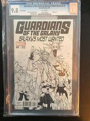Guardians Of The Galaxy Most Wanted #1 Sketch 1:25 Variant CGC 9.8
