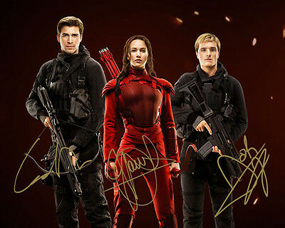 The Hunger Games Jennifer Lawrence Hutcherson Signed Photo Autograph Reprint