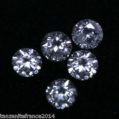 0,70 cts au total : LOT de 5 DIAMANTS NATURELS,  COULEUR E,  VSI 1