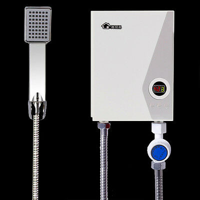 Tankless Instant Hot Water Heater Shower Set Electric Hot Water System Caravan