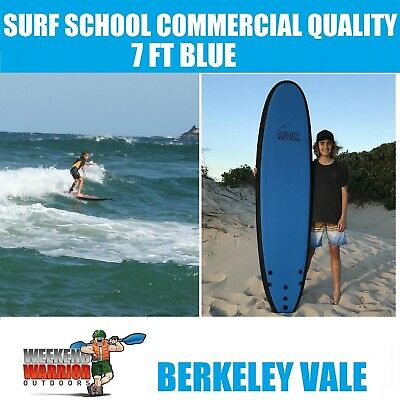 Softboard 7FT Blue Foam Surboard Learn to Surf COMMERICAL SURF SCHOOL QUALITY