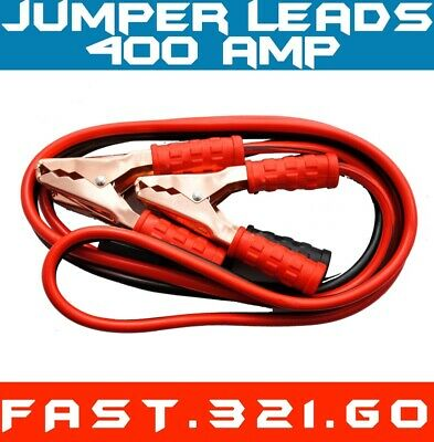 400amp Jumper Leads Surge Protected Jump 2.5m Long Booster Cables Heavy Duty X 2