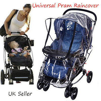 New Baby Stroller  Rain Cover Children Trolleys Pram Pushchair Car Raincover UK