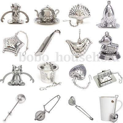 Mesh Loose Tea Leaf Infuser Tray Strainer Filter Herb Diffuser Stainless Steel
