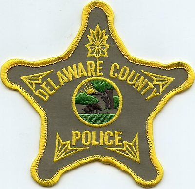 Delaware County Indiana In Police Patch