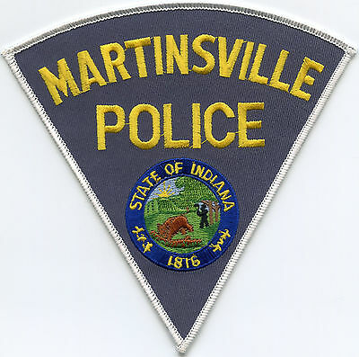 MARTINSVILLE INDIANA IN very large POLICE PATCH