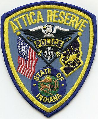 Attica Indiana In Reserve Police Patch