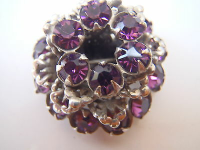 Antique French Silvered & Amethyst with movable parts Brooch