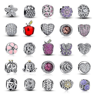 Authentic S925 Disney Sterling Pave CZ Daisy Charms Fit Women Original Christmas