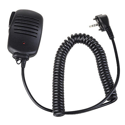 3.5mm Jack Shoulder Remote Handheld Mic Speaker Headphone for 1 Pin Vertex Radio