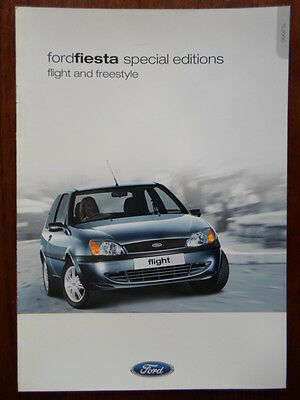 FORD FIESTA FLIGHT & FREESTYLE Special Editions 2000-01 UK Mkt sales brochure