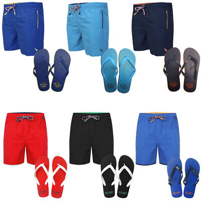 Mens Tokyo Laundry Sth Shore Swim Trunks Swimming Shorts Flip Flops Size S-XXL