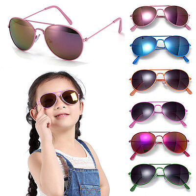Classic Children's Paint Colorful Sunglasses Boys Girls Trendy Metal Spectacles