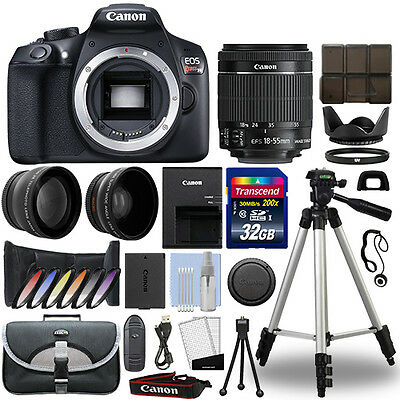 Canon EOS Rebel T6 DSLR Camera + 18-55mm IS II 3 Lens Kit + 32GB Best Value Kit