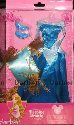 Disney Store parks Aurora blue dress costume fashion Sleeping Beauty for doll