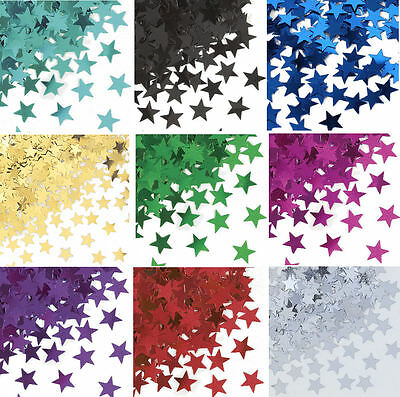 Star Metallic 14g Confetti - Choose From 9 Colours - Table Party Foil Decoration