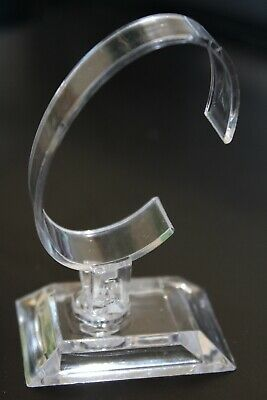 Bracelet / Watch Display Stand - Clear Acrylic  - 2 part assembly - 9cm high
