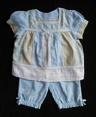 Baby clothes GIRL 6-9m Mothercare dress-style top/blue trouser COMBINE POST!