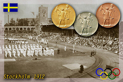 Stockholm 1912 Olympic Medals. Olympic Stadium, Sweeden