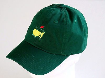 NEW Masters Golf Hat Cap Augusta National Emerald Green Adjustable 1 of 5Only  3 ... bfb0039a5430