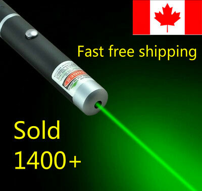 *REDUCED$* 5mW GREEN Visible Beam Laser Pointer Pen AAA Battery CANADIAN cat toy