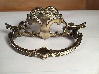 One Victorian Ornate Brass pull