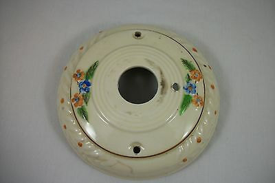 Antique Porcelier Ceiling Light Fixture Vintage Floral Flush 1930's Art Deco Old • CAD $40.27