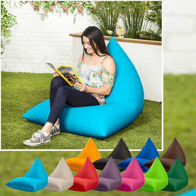 Waterproof Large Pyramid Shaped Garden Bean Bag Gamer Lounger Gaming Chair Patio