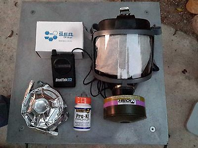 Scott Gas Mask Kit w/Pwr Voice Amp 40mm NATO NBC Filter & Potassium Iodide NEW!!