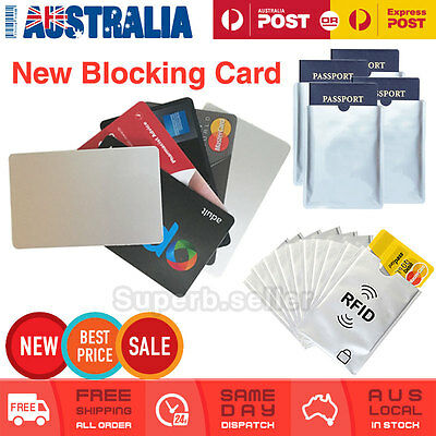 RFID Blocking Passport & Card Sleeve Shield Identity Protector Anti Scan Skim AU