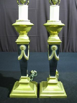 Matching Pair of Striking Vintage Neoclassic Style Lamps/Immaculate Condition