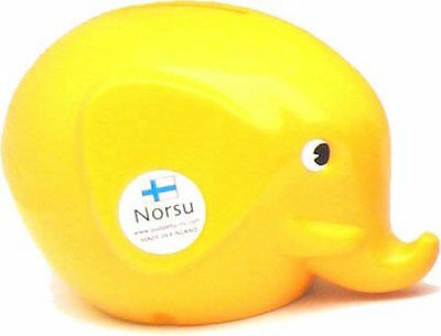Norsu Elephant Piggy Bank with a Key Finland Yellow