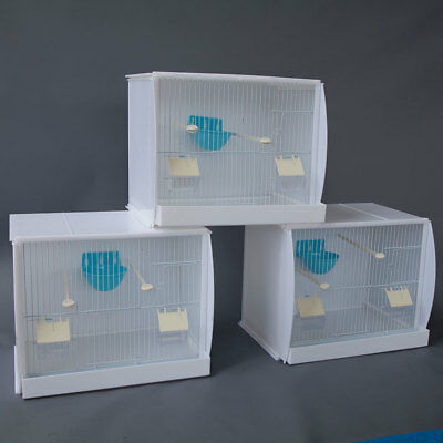 Set of 2 Stackable Canary Finch Breeding Bird Cage with Nest Pan