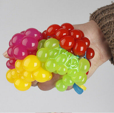 Reliever Face Squeeze Grape Ball Relief Autism ADHD Mood Anti Hot Stress Toy