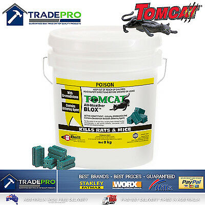 Tomcat Ultra All Weather Blox 8kg Rat Bait Mouse Trap Poison Rodent Killer