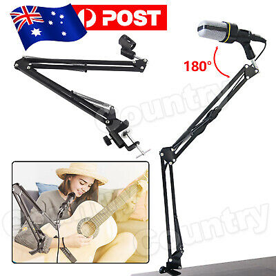 Microphone Holder Stand Suspension Boom Scissor Arm Mount For Studio Broadcast