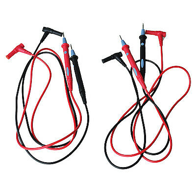 "Cfly889 43.3"" Long Multimeter 1000V Test Lead Cable Probe Red Black 2 Pcs"