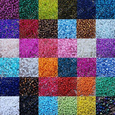 3000x czech glass seed beads 12/0 spacer round craft lot embroidery wholesale