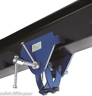 LiftinGear 2 Tonne Adjustable Trolley Beam Girder Clamp 76-203mm