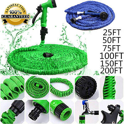 EXPANDABLE FLEXIBLE GARDEN HOSE PIPE 3x EXPANDING WITH SPRAY GUN + Box Package